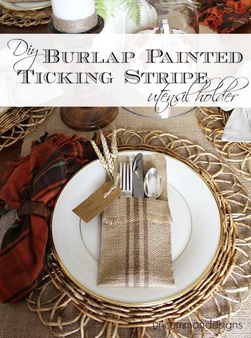 DIY_Burlap_Painted_ticking-_stripe_utensil_holder