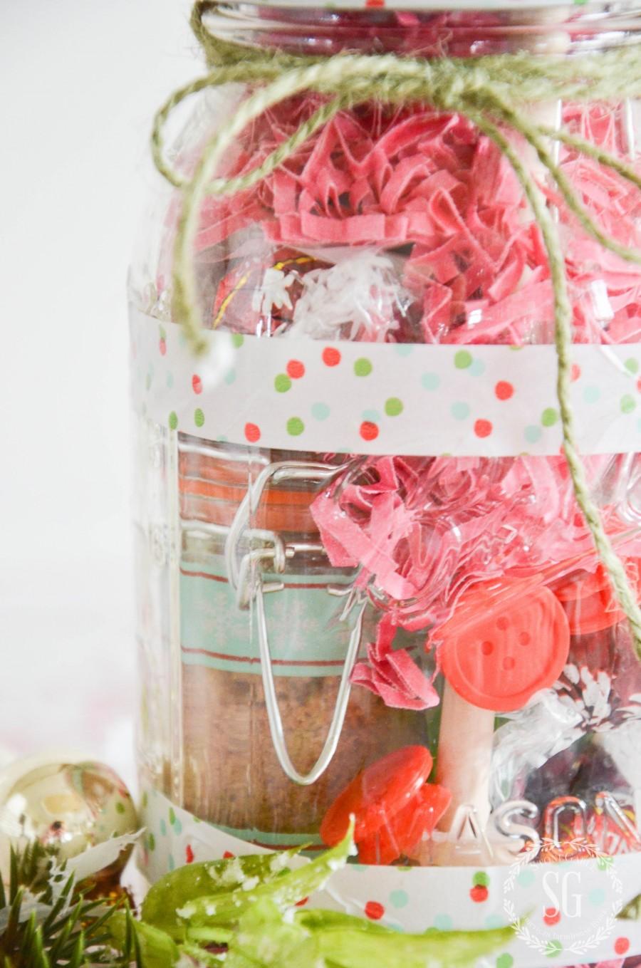 TEA LOVER\'S MASON JAR CHRISTMAS GIFT IDEA DIY