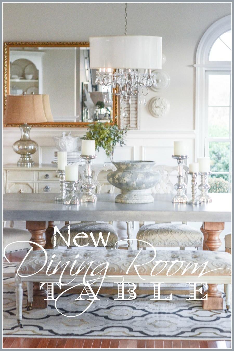 new dining room table. Black Bedroom Furniture Sets. Home Design Ideas