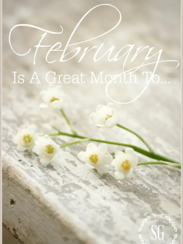 FEBRUARY IS A GREAT MONTH TO…