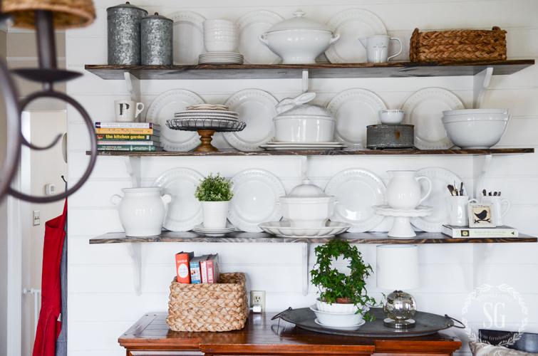 Decorating Shelves decorating open shelves like a pro! - stonegable