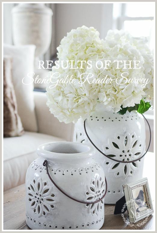 WINTER IN THE LIVING ROOM-flowers-white-pottery-stonegableblog-2