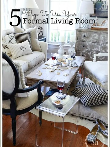 5 WAYS TO USE YOUR FORMAL LIVING ROOM