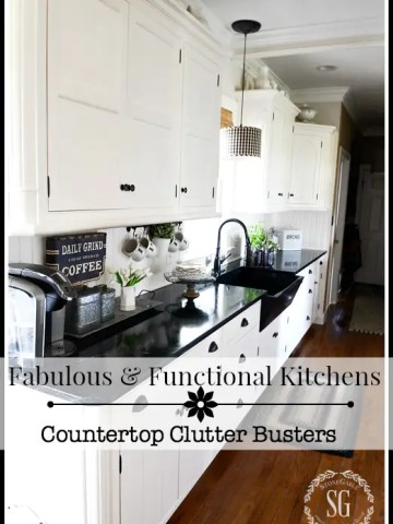 FABULOUS AND FUNCTIONAL KITCHENS… COUNTER TOP CLUTTER BUSTERS