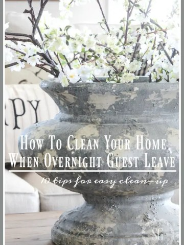 HOW TO CLEAN YOUR HOME AFTER OVERNIGHT GUESTS LEAVE