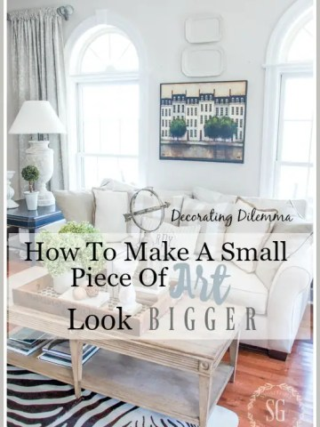 HOW TO MAKE A SMALL PIECE OF ART LOOK BIGGER