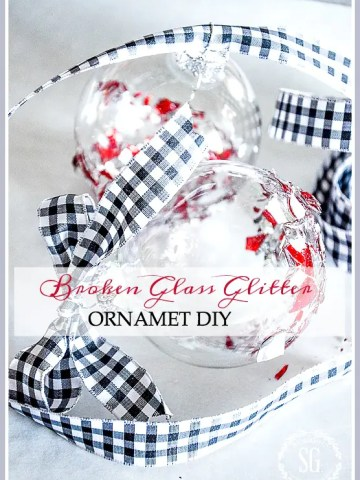 BROKEN GLASS GLITTER ORNAMENTS