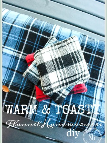 COZY AND TOASTY FLANNEL HANDWARMERS DIY
