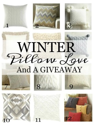 WINTER PILLOW LOVE AND A PILLOW GIVEAWAY