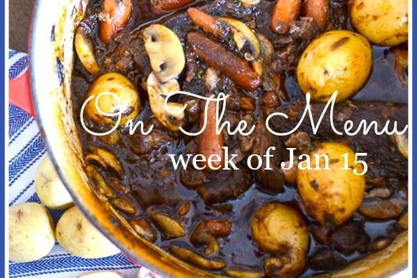 ON THE MENU JANUARY 15