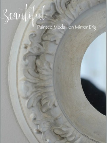 BEAUTIFUL PAINTED MEDALLION MIRROR DIY