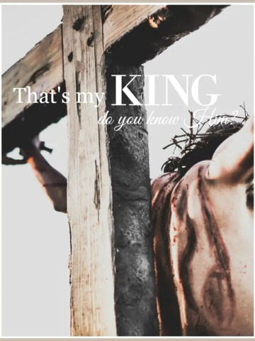 THAT'S MY KING… DO YOU KNOW HIM?