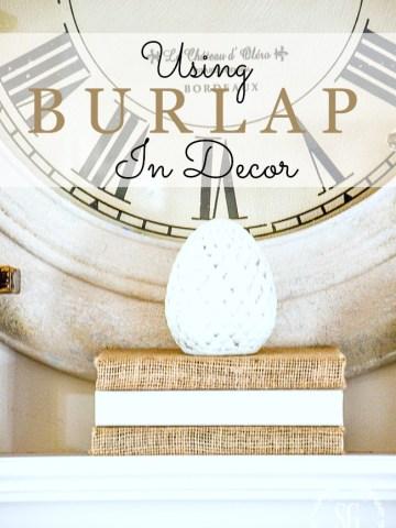 USING BURLAP IN DECOR