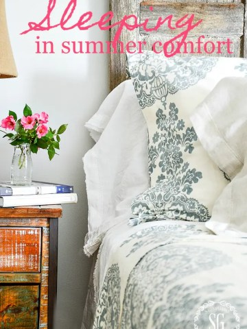 SLEEPING IN SUMMER COMFORT