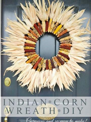 BEAUTIFUL INDIAN CORN WREATH