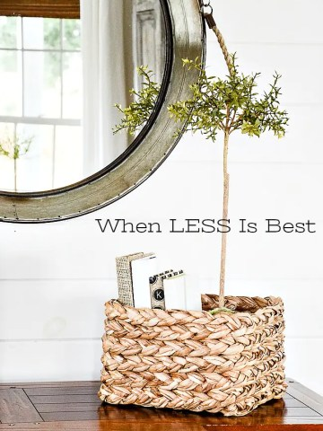 WHEN LESS IS BEST