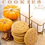 PUMPKIN SPICE COOKIES- The taste of fall!