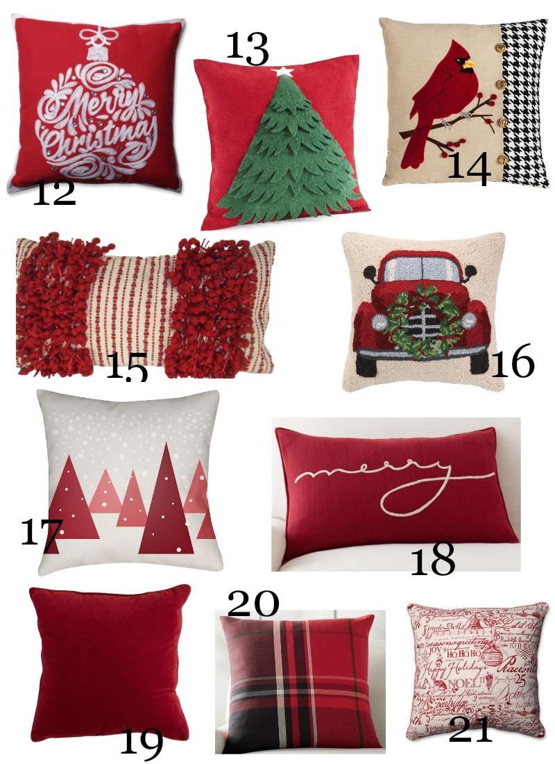 Christmas Pillow Love 2017 Stonegable