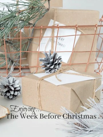 ENJOYING THE WEEK BEFORE CHRISTMAS