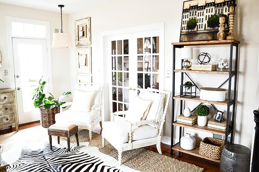 The Living Room Shelves In The Living Room  Stonegable
