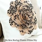 NO SEW BURLAP FLOWER PILLOW DIY