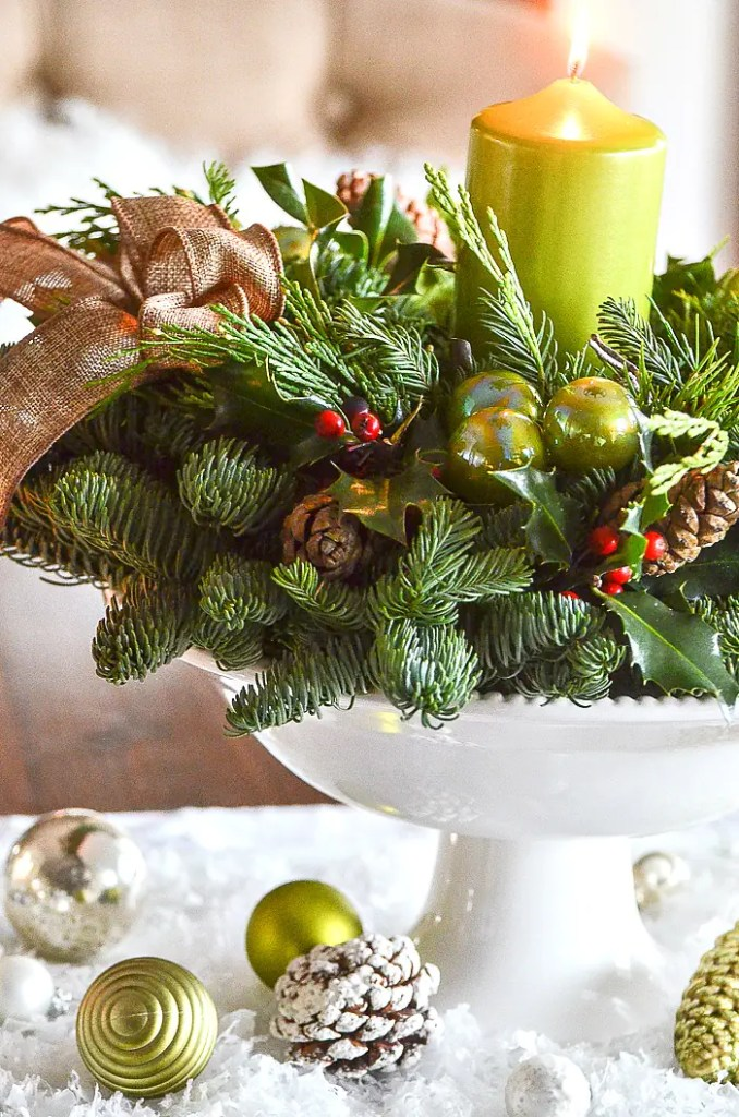The easiest christmas centerpieces diy and a beautiful