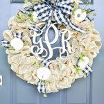 Beautiful Fall Burlap Wreath Diy Stonegable