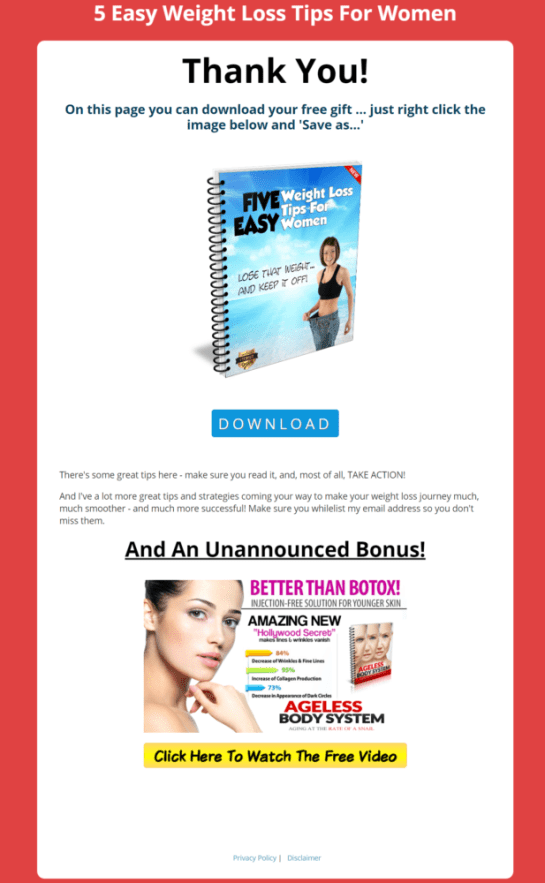 Weight Loss For Women Affiliate List Building Pack Review - Make YOU Money In This MASSIVE Niche by Val Wilson