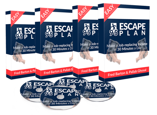 "9-5 Escape Plan Review – SHOULD YOU GET IT? : Discover How Fred Barton Make An Online Income $40-$50 A Day In Completely Passive Income, Without Doing Any ""Real Work"""
