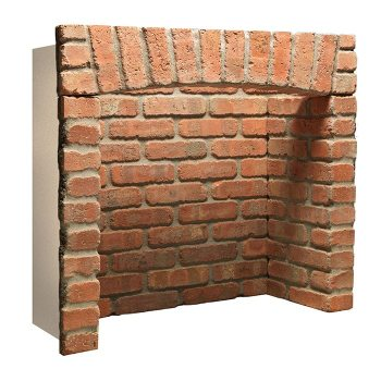 Rustic Brick Chamber With Front Returns and Arch