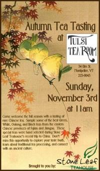 Autumn Tea Tasting