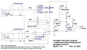 Versatile Telecaster Controls  Sid of Stone Marmot