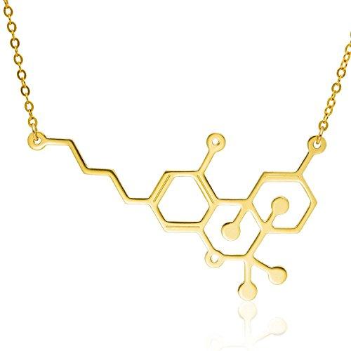 THC Molecule Necklace Marijuana Pendant