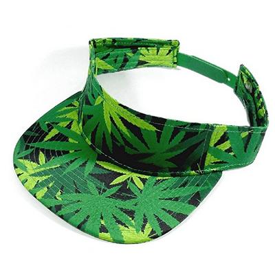 Weed Leaf Marijuana Print Snapback Visor