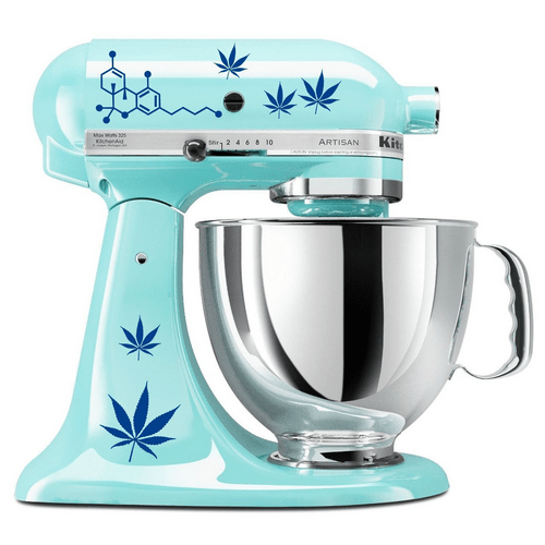 Pot Leaves Decal Set for Kitchen Mixers