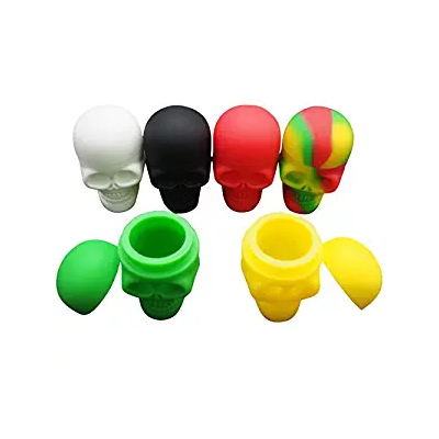Skull Shaped Silicone Dab Containers