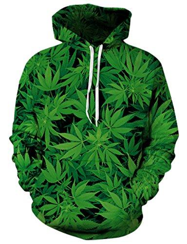 Weed Leaf Pullover Hoodie