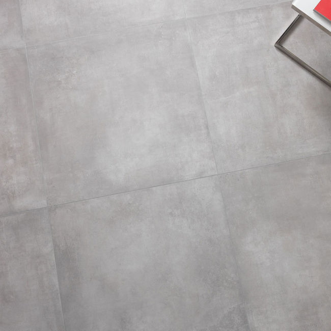 boston grey concrete effect porcelain tiles