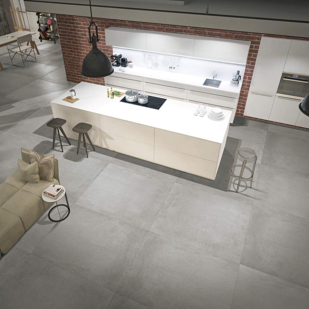 mondo grey concrete effect porcelain tiles