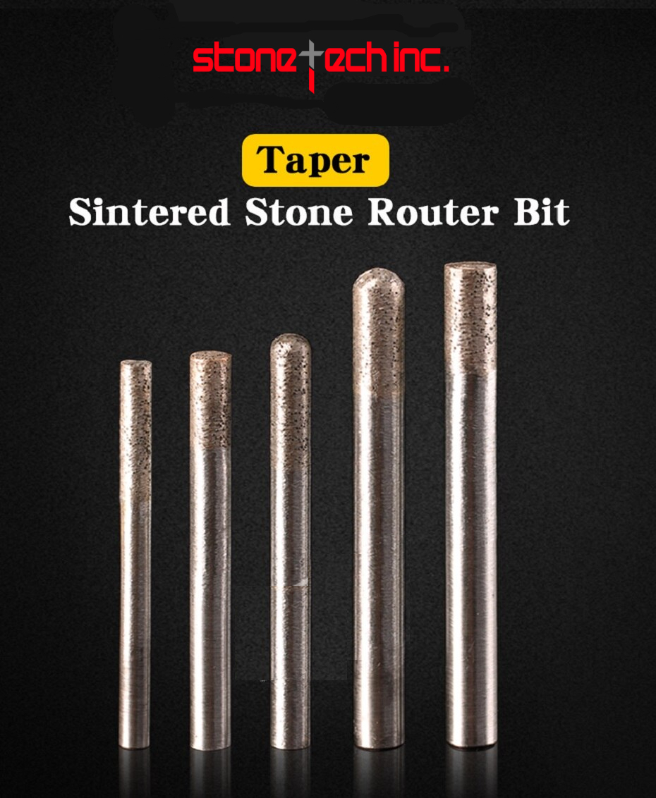 Stone engraving sintered bits stone carving tools diamond router bits CNC milling cutter - 6/8/10/12mm shank