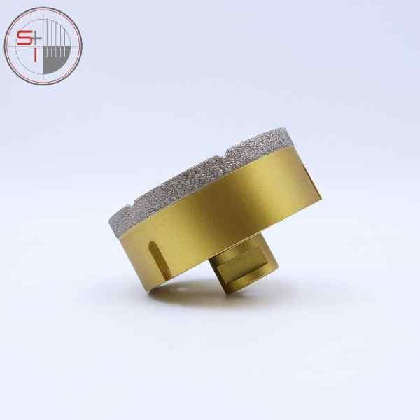 Dry or wet Brazed diamond hole saw