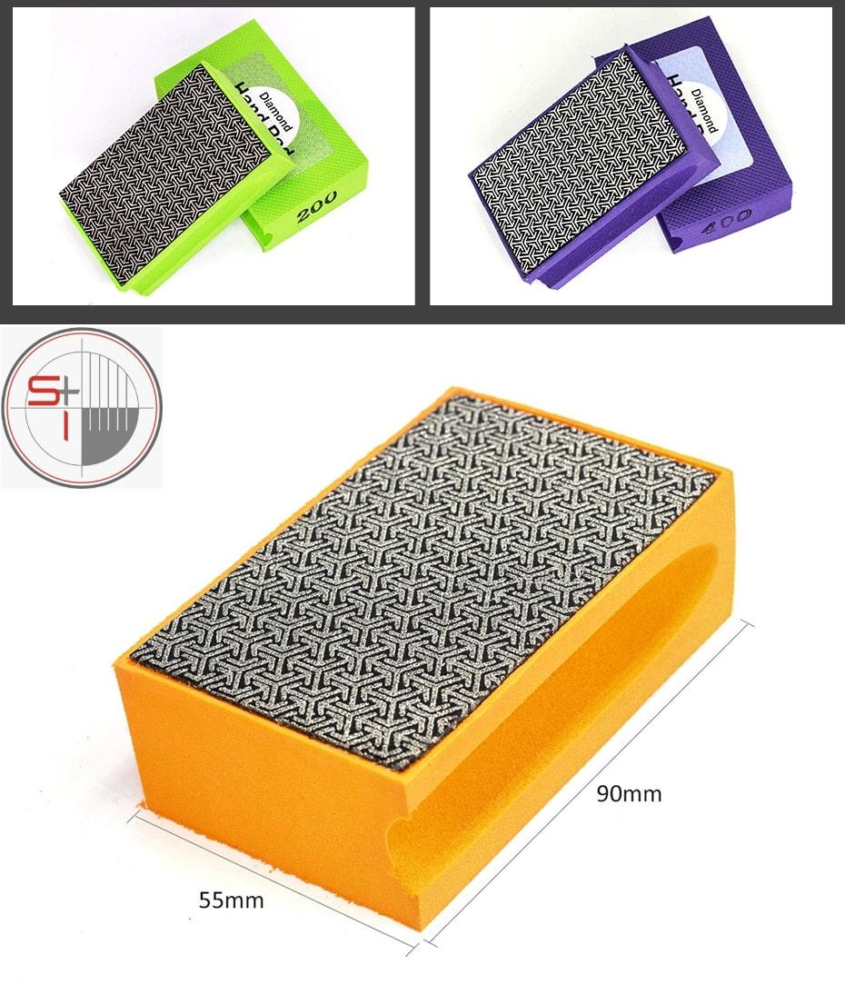 Diamond hand polishing pad Foam Ceramic Tile Grinding