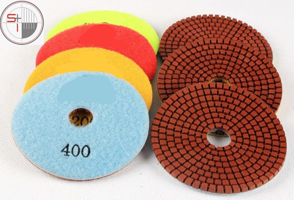 Raizi 4 Inch Diamond disc Flexible Wet Sanding Disc Copper bond For Granite, Marble,Engineered stone,Concrete Grit 30-400