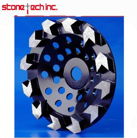 Diamond Arrow tooth wheel floor grinding Wheels | Surface grind discs