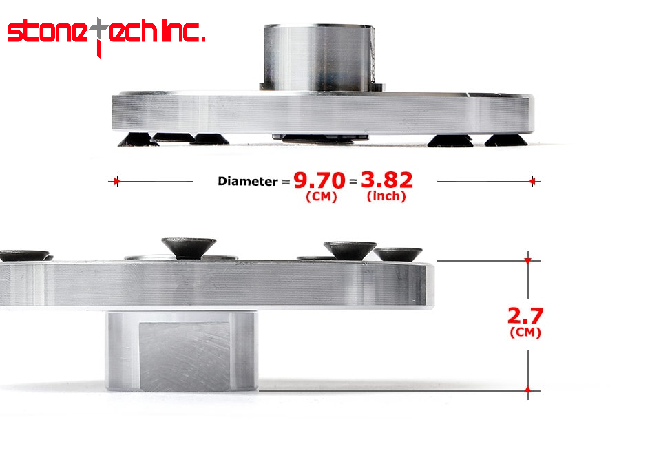 Stone Tech Inc - 1PC Rigid Flange Coupling Motor Guide Shaft Adapter 5/8-11 M14 Durable Insulation Metal Flange Tool for Diamond Saw Blade