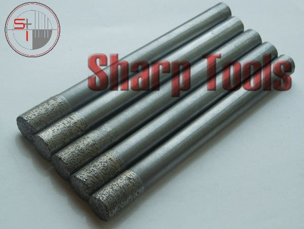 Sintered Diamond Router Bits for Engraving Granite 10MM OVL-105MM Flat End