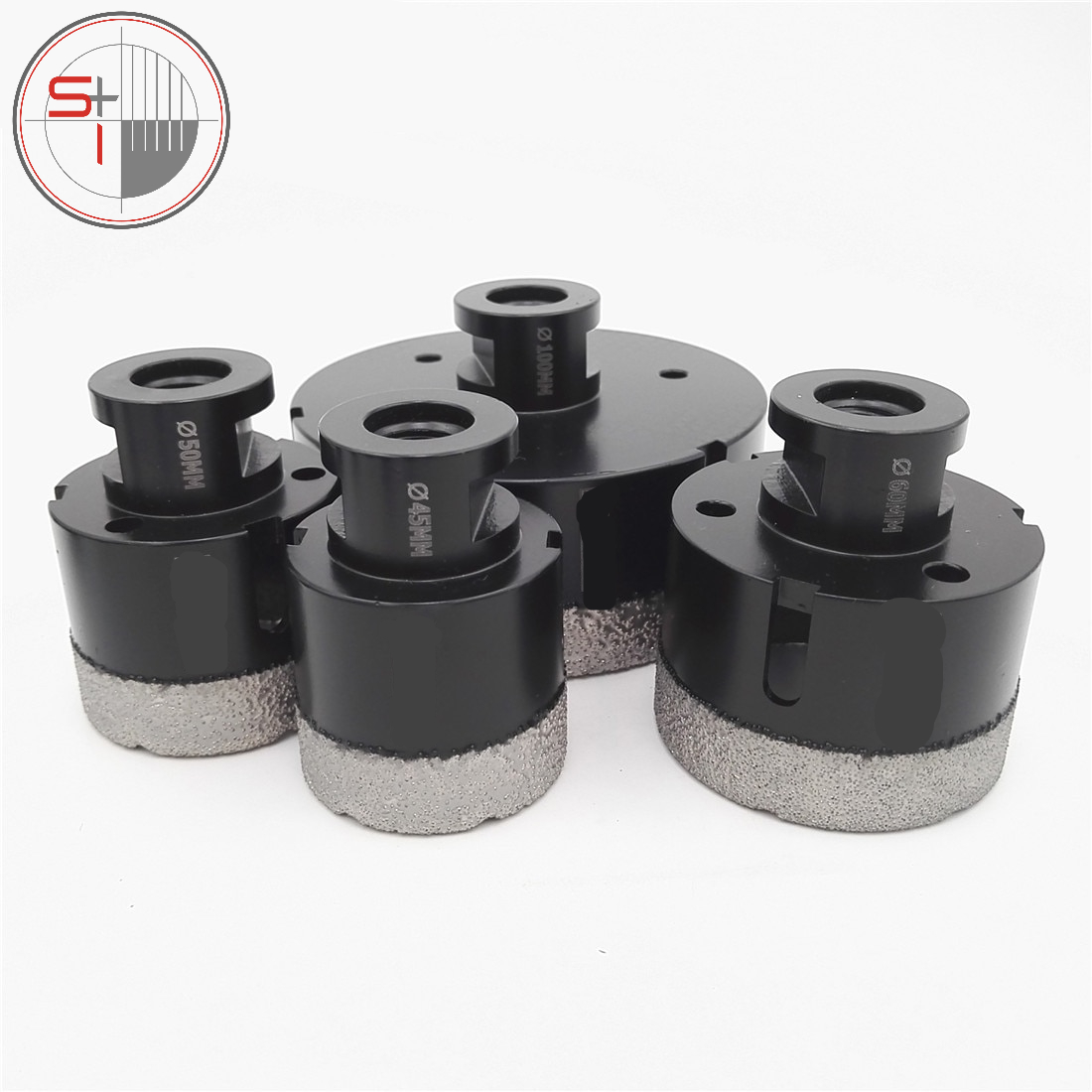 Dry Vacuum Brazed Diamond Drill Core Bits Ceramic Tile stone marble Hole Saw Professional Quality - 4pcs/set