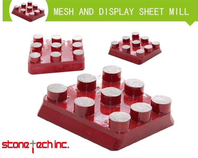 10PCS/Set Diamond Frankfurt Metal Grinding Brick for Marble Artificial Stone Diamond grinding disc for concrete YG19