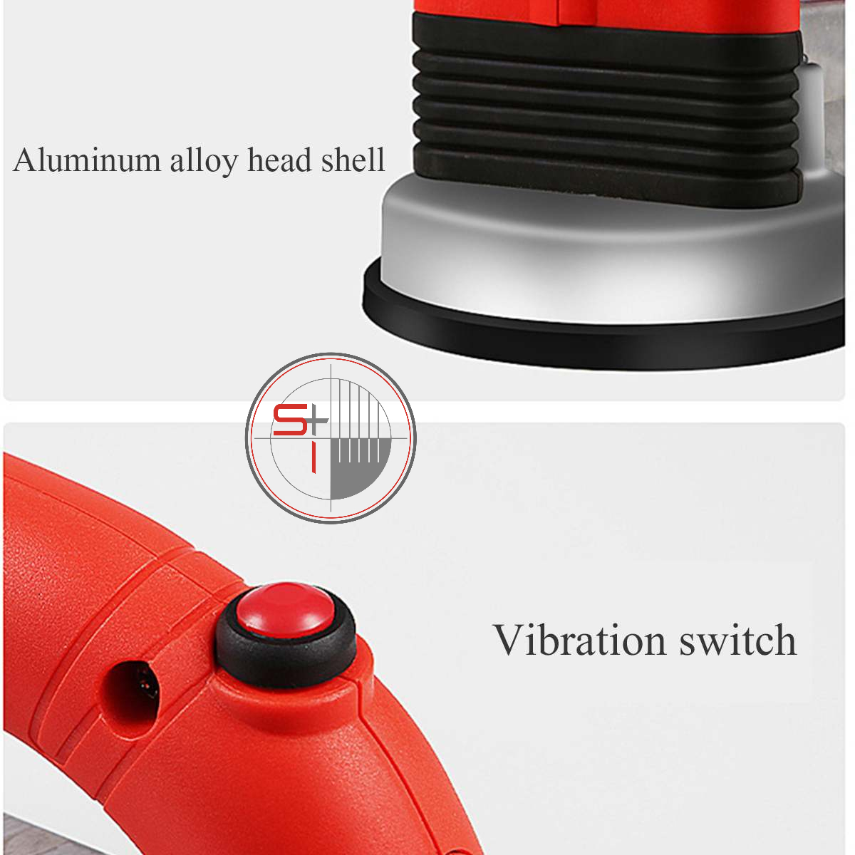 Tile Vibrator Portable Machine 60-120mm   Adjustable Suction Cups   Automatic Floor Leveling Vibrator with Battery