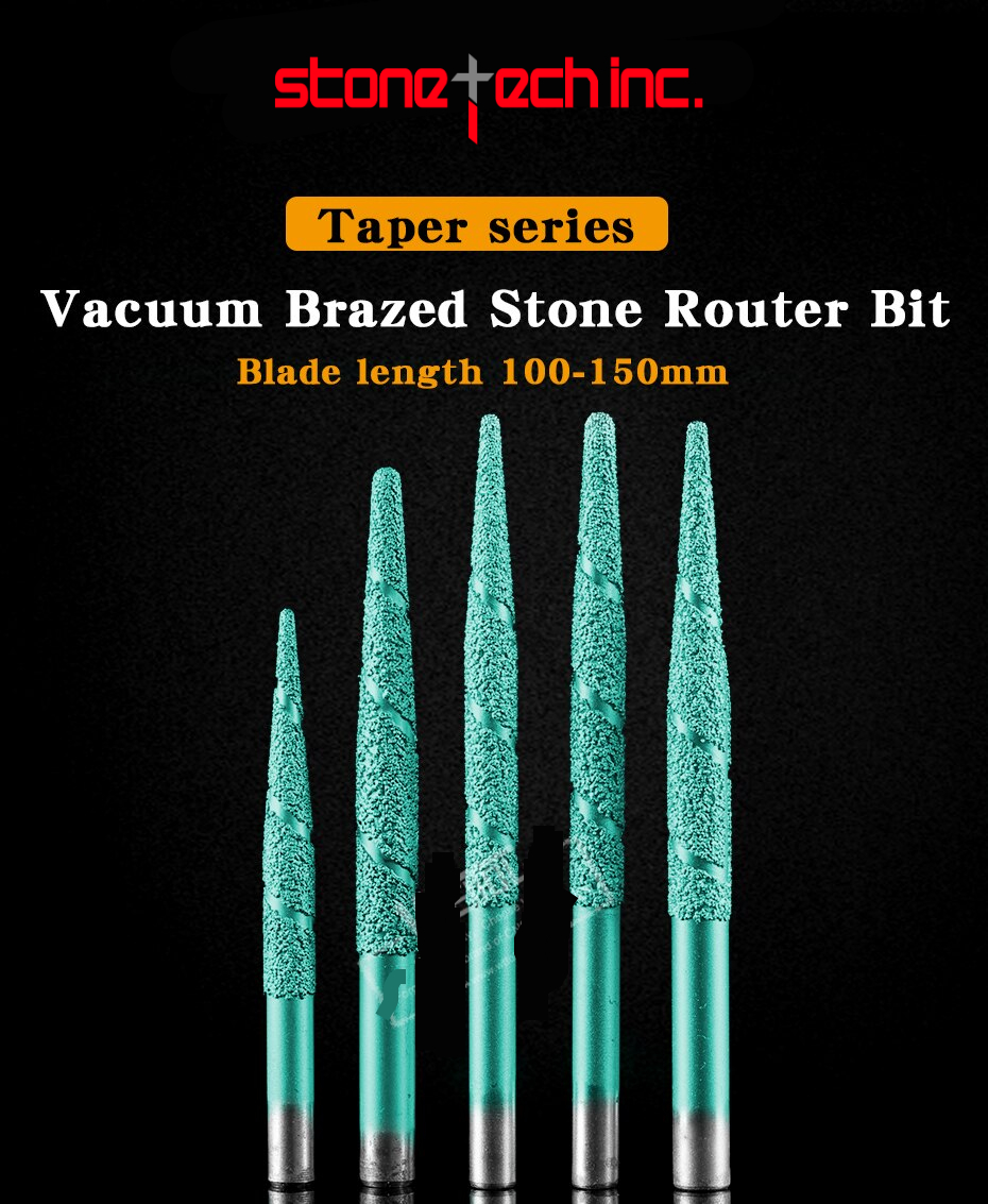 CNC router machine milling cutter Brazing stone engraving bits marble carving tools CNC router bits